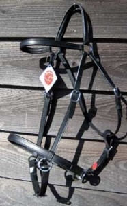 LightRider Stockhorse Bridle in English Leather with stainless steel fittings.