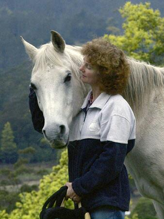 Cynthia and her special horse - Manny (Examiner Photo)