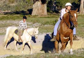Riding bareback with a pad is a good alternative to a saddle.
