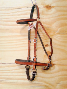 The new style LightRider Stockhorse Bridle with extra cheek piece buckles.