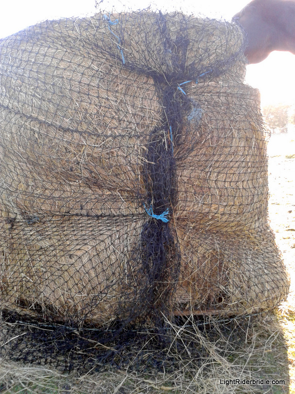 Using a larger net on a smaller bale is best if you tie it up on one side.