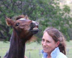 Mel Fleming & foal