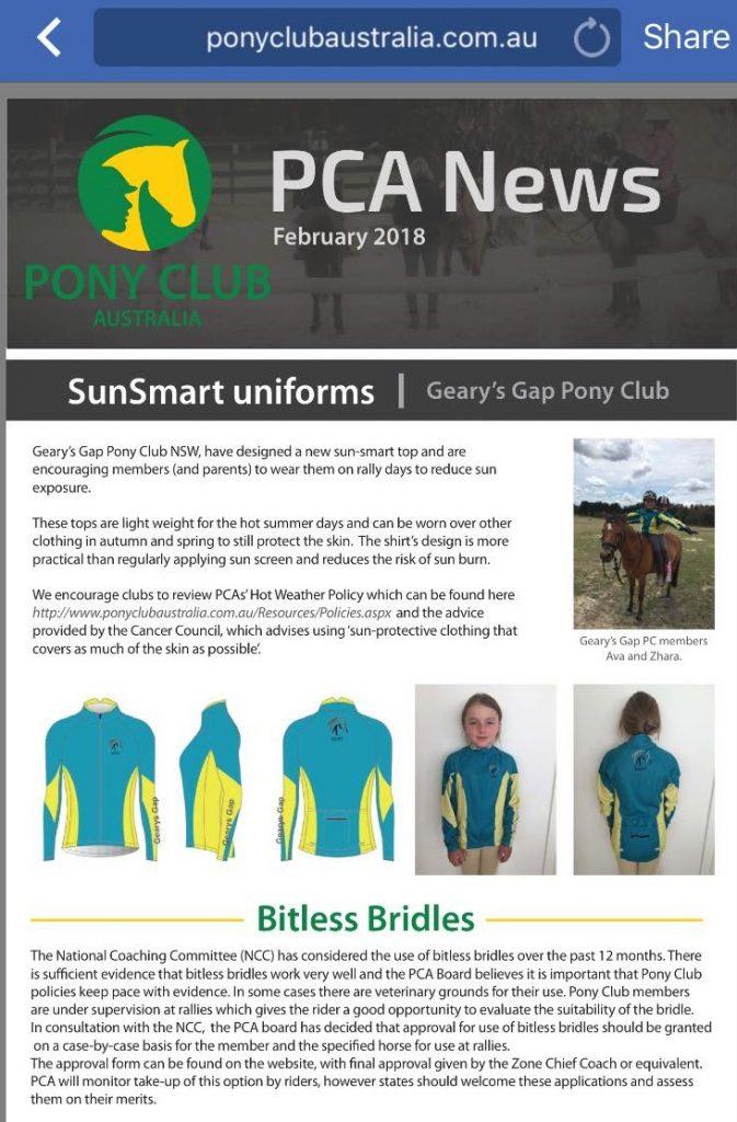 Pony Club Australia Bitless News
